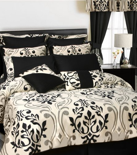 Lowest Prices! Tribeca Living Prague 12-Piece Cotton Bed in a Bag with Deep Pocket Sheet Set, Full