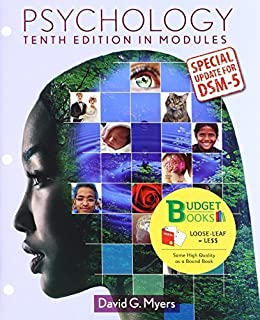 Psychology in Modules (Loose Leaf) with DSM5 Update & LaunchPad 6 Month Access Card by Myers, David G. (2014) Hardcover