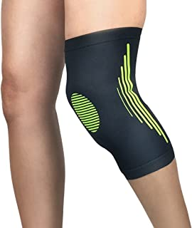 Chastep Compression Knee Sleeves Support for Injury Recovery Legging Fit Brace for Running, Jogging,