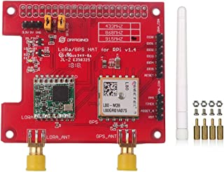 Dragino LoRa GPS HAT 915Mhz V1.4 for Raspberry Pi 2 Model B/Raspberry Pi 3, Built-in Temperature Sensor LNA, Support DGPS SBAS SDK Command RFW95W