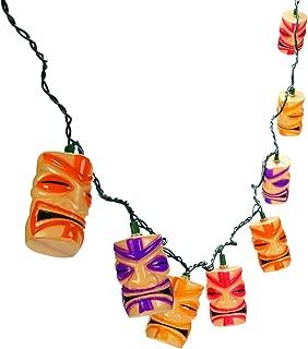 Fun Express Tiki Head Light String Set Luau Party Patio Lights