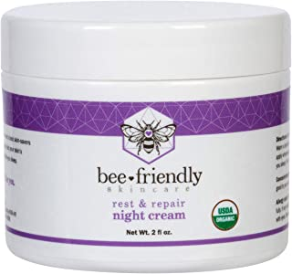 Best Best Night Cream Natural USDA Certified Organic Night Cream By BeeFriendly, Anti Wrinkle, Anti Aging, Deep Hydrating & Moisturizing Night Time Eye, Face, Neck & Decollete Cream for Men and Women 2 oz Review