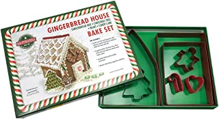 R&M International 2090 Gingerbread House 7-Piece Cookie Cutter and Baking Set with Recipe and Directions