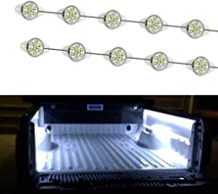 iJDMTOY 10-Piece Universal Fit 90-LED Waterproof Xenon White Truck Bed Cargo Area LED Lighting Kit