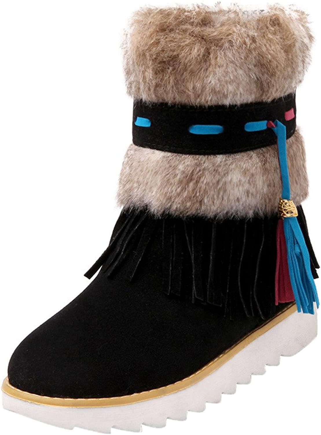 Eclimb Women's Fashion Hidden Platform Mid Calf High Boots