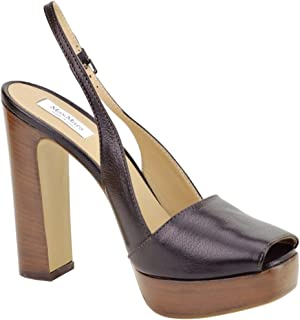 54cb659b000a MaxMara Open Toe Slingback Platform Heels Italian Leather Size 8.5   9  Perfect for Night or