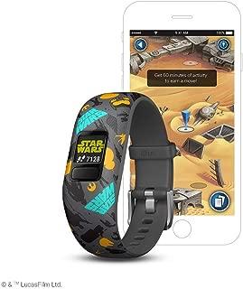 Garmin vívofit jr 2, Kids Fitness/Activity Tracker, Star Wars The Resistance, 1-year Battery Life (Renewed)