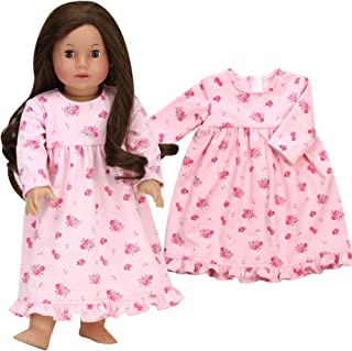 Sophia's 18 Inch Doll Nightgown fits American Girl Dolls   Pink Floral Print Nightgown