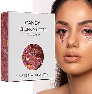 Candy Chunky Glitter ✮ COSMETIC GLITTER KARIZMA ✮ Festival Beauty Makeup Face Body Hair Nails