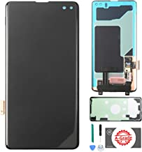 KR-NET [A Grade] AMOLED LCD Display Touch Screen Digitizer Assembly Replacement for Samsung Galaxy S10+ Plus G975U G975F, with Tools and Adhesive