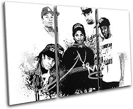 Bold Bloc Design - NWA Hip Hop Rap Graffiti Urban 120x80cm Treble Canvas Art Print Box Framed Picture Wall Hanging - Hand ...