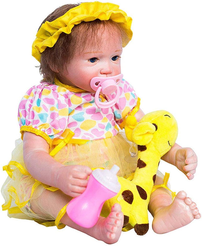 Reborn Babypuppe Puppe Weiche Simulation Silikon Vinyl 46 cm Magnetischen Mund Realistische Jungen und Mdchen Spielzeug Jungen Mdchen Giraffe Spielzeug