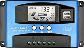 SUNYIMA 30A MPPT Solar Charge Controller with LCD Display Dual USB Multiple Load Control Modes,New Mppt Technical Maximum ...