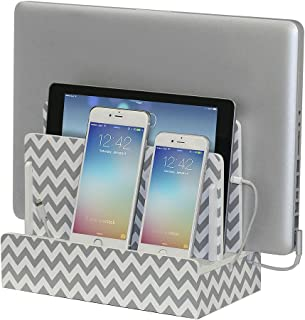 G.U.S. Multi-Device Charging Station Dock & Organizer - Multiple Finishes Available. for Laptops, Tablets, and Phones - Strong Build, Chevron Stripe