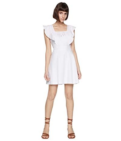 BCBGeneration Square Neck Dress TRJ6268188 (Optic White) Women