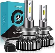H7 LED Bombillas Coche,10000LM Xenon Blanco 6000K para 12V Auto, 2 Lámparas