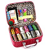 BILIEASY BE.EASY Sewing kit 51 PCS Mini Sewing kit Sewing Kits for Adults Travel Sewing Set (Rose Red)