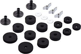 Canomo Set of 21 Pieces Cymbal Accessories Cymbal Stand Sleeves Cymbal Felts with Cymbal Washer and Base Wing Nuts