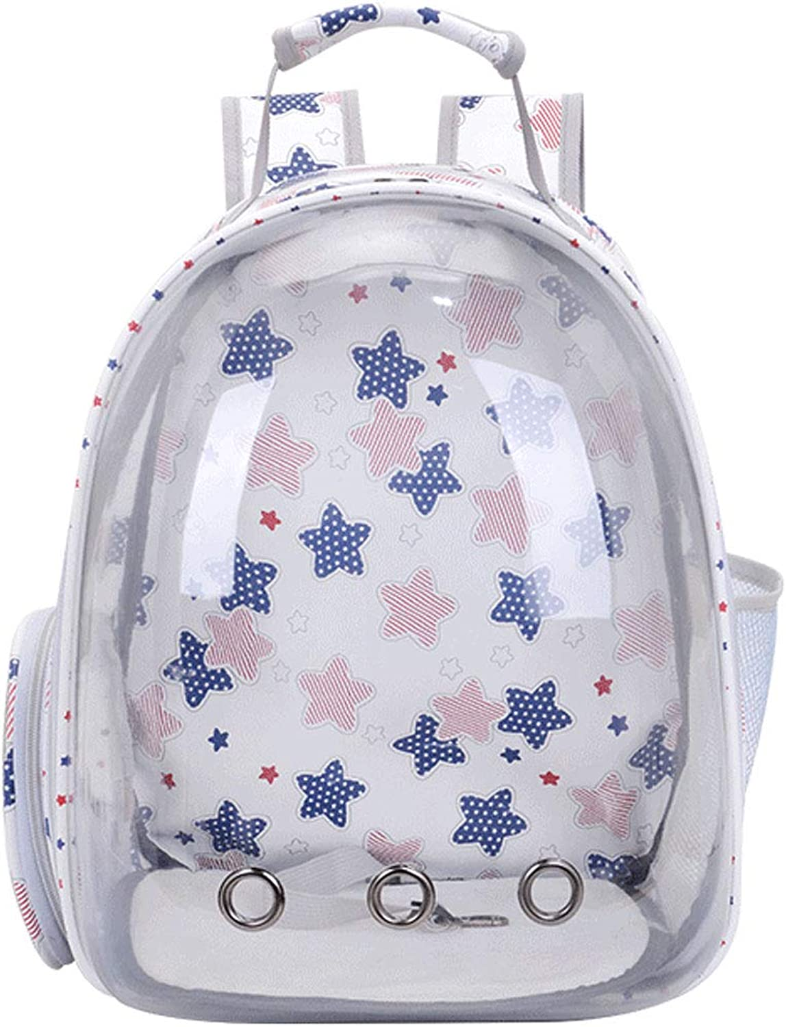 Obzk Pet Space Pack Portable Comfortable Breathable Cat Backpack Dog Backpack Suitable For Small Cats And Dogs,Big star,M