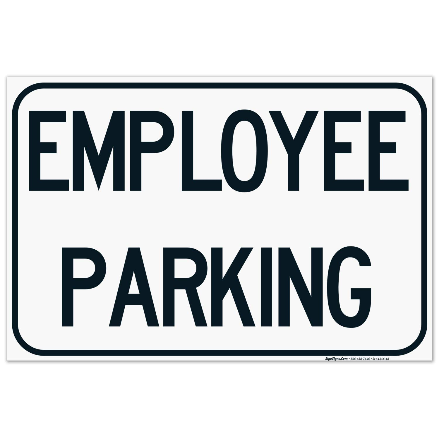Employee Parking Sign 24x36 Inches Max 70% OFF Mil Corrugated Pl Now on sale Thick 160