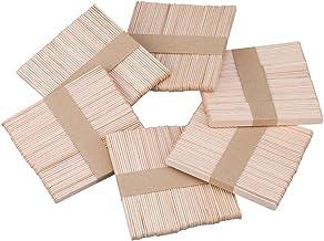 B/âtonnet Bois 100pcs B/âtons de Sucettes Batonnet de Glace tiges de glace en bois naturel Baton Bois pour Loisirs Cr/éatifs Popsicle
