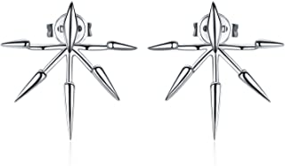 front and back spike earrings