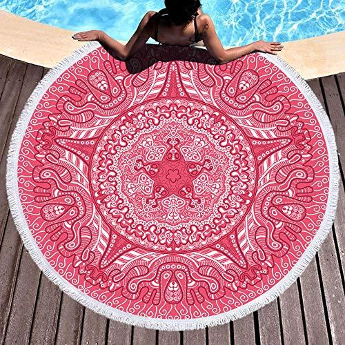 BCDJYFL Impresas Toalla De Playa Patrón De Colores Toallas De Playa Microfibra Toallas De Yoga para Exteriores Suaves Y Absorbentes.Diámetro: 150Cm