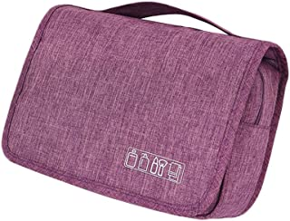 Unisex Hanging Toiletry Bag Large Capacity Cosmetic Wash Pouch Water-Resistant Travel Makeup Bathroom Storage Organizer