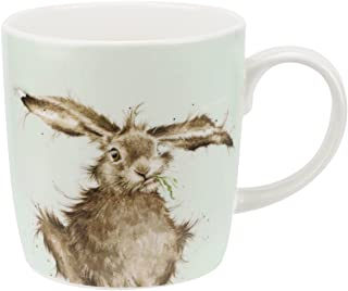 Wrendale Design 'Hare-Brained' Mug by Royal Worcester Large 14 oz Bone China