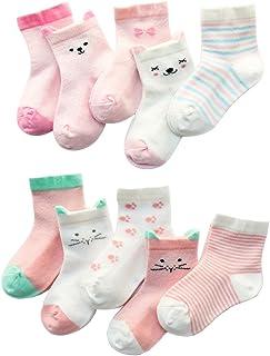 Z-Chen Calcetines de Verano para bebé niño niña (Pack de 10), 3-5 años, Set 2