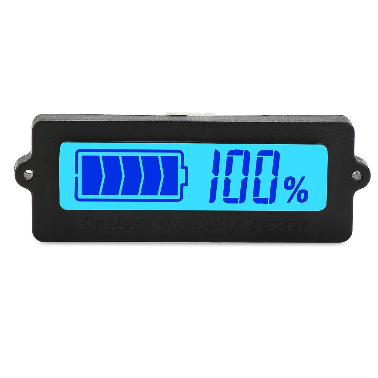 広く区画クラシックDC 8-63V青いLCDデジタルバッテリー容量テスター、12V / 24V / 36V / 48V鉛酸電池状態表示、リチウムイオンバッテリー電気量検出器、自動車車両自動バッテリーテスター