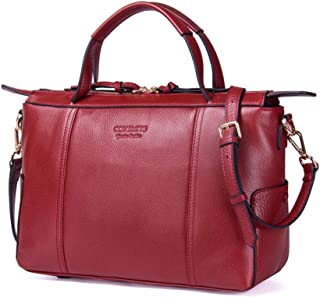 Laptop Bag,Women's Luxury Leather Computer Tote Bag Work Briefcase Office Business Daily Out Messenger Bag,A,33 * 20 * 14CM