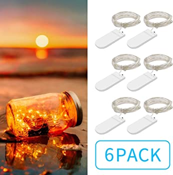 6 Pack Govee Battery Operated String Lights with 20 LEDs