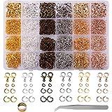 BQTQ 3180 Pcs Anneaux Ouverts et fermoirs à Homard,Kit de Fabrication de Bijoux Accessoires de Bijoux DIY Kit, Anneaux Ouverts pour Bracelet et Collier,6 Couleurs