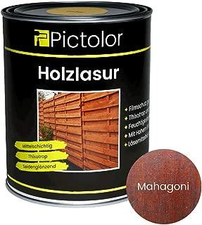 Pictolor Holzlasur 0,75 Liter Mahagoni