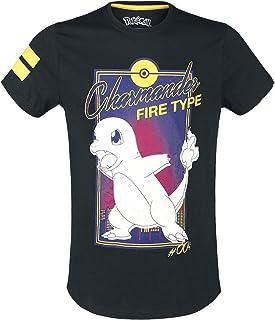 Nintendo Pokemon T Shirt City Charmander Fire Type Logo Nouveau Officiel Homme