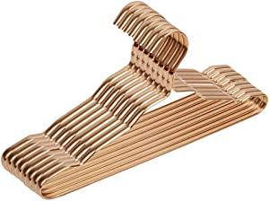 Aluminum Clothes Hangers  Quality Junior Petite Gold Modern Heavy Duty Metal Hangers Clothing Thin Compact  Coated Metal Hangers for Wardrobe  Pack A