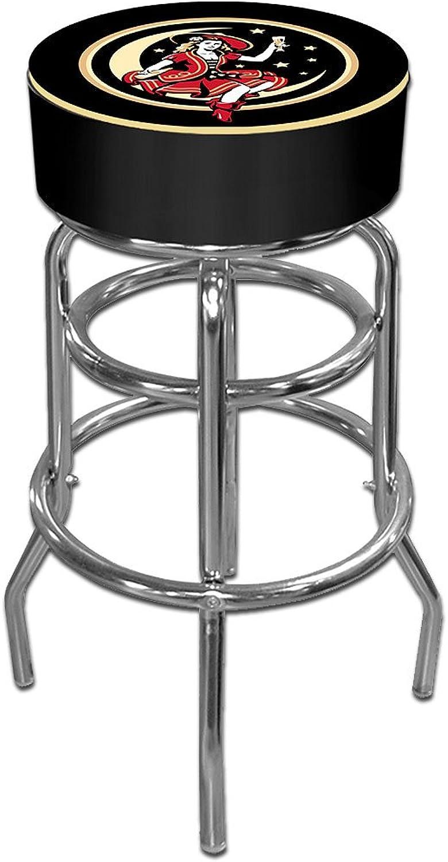 Trademark Global Miller High Life Girl in The Moon Vintage Padded Bar Stool, Black