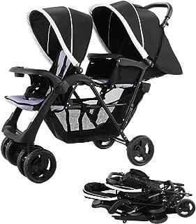 Costzon Foldable Double Stroller Baby Infant Pushchair Travel Jogger w/Storage Basket
