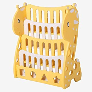 Baibao Jirafa bebé estantería de Almacenamiento de Dibujos Animados de plástico Estantería Estante Amarillo 82.5x69x32.5cm Librero
