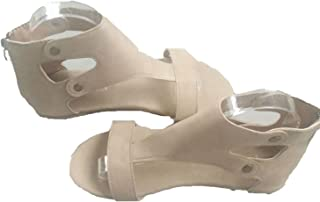 Lovely-Shop Women Sandals Soft Leather Gladiator Sandals Women Casual Summer Shoes Flat Sandals Zip Plus Beach Shoes