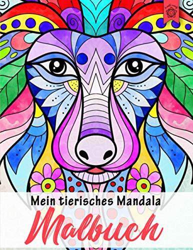Mein tierisches Mandala Malbuch: 50 Tiermandalas für Kinder ab 8 Jahren, Kreativität fördern mit dem Mandala Malbuch für Kinder, ein tolles Geschenk (Mandala Malbuch Kinder, Band 5)
