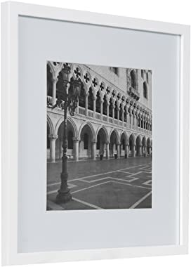 Gallery Perfect Gallery Wall Kit Square Photos with Hanging Template Picture Frame Set, White, 12 Piece