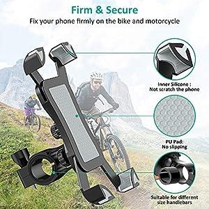 """Cocoda Soporte Movil Bici, 360° Rotación Soporte Movil Moto Bicicleta, Anti Vibración Porta Telefono Motocicleta Montaña para iPhone 11 Pro Max/XS Max/XR, Samsung S10/S9 y Otro 4.5-7.0"""" Móvil"""