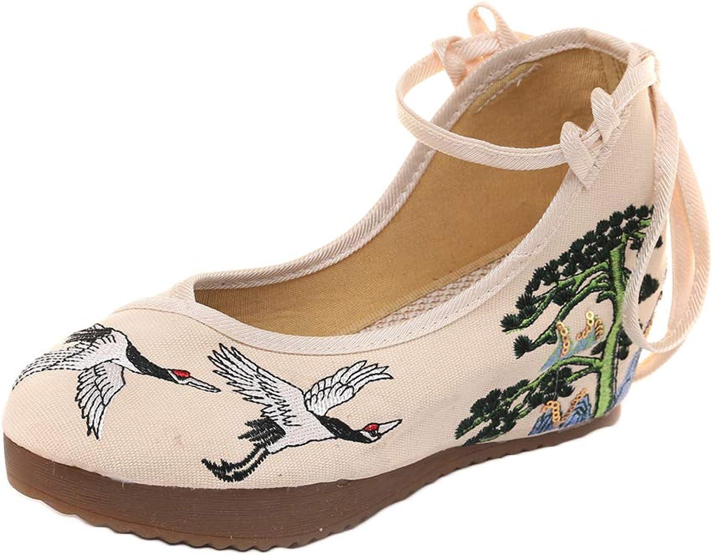 AvaCostume kvinnor Embryderi Gummi Sole Strappy Wedges Wedges Wedges Tjejer Party skor  tveka inte! köp nu!