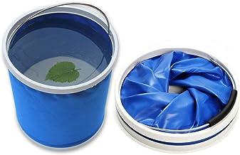 DYBOHF Cubo Plegable Cubeta de Agua portátil Multiuso - Apto para Acampar, Deportes al Aire Libre, Uso doméstico, Cubo de Agua para Lavado de Autos Capacidad - Ligero y fácil de Transportar (11L)