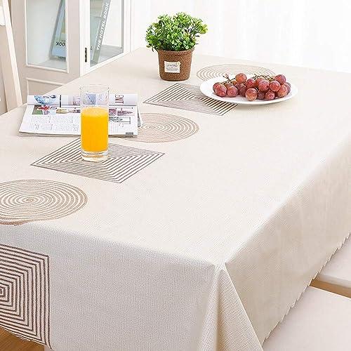 online barato RUNWEI Mantel, Mantel rojoondo Impermeable Impermeable Impermeable de PVC, Mantel de Mesa para Mesa de café, Impermeable, a Prueba de Aceite, Anti escaldado (Talla   90x135cm)  marca de lujo