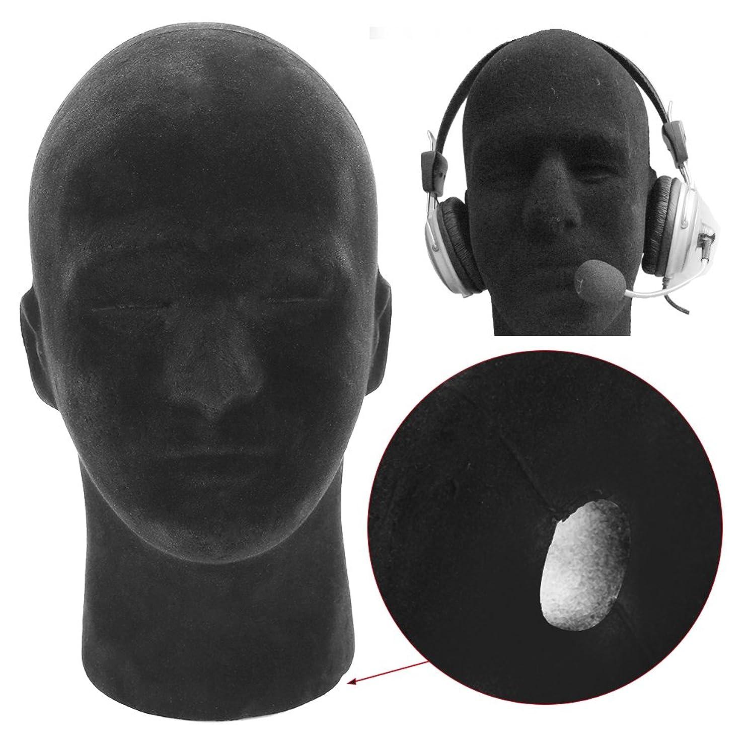 1ピースブラックフォームマネキンマネキンヘッドモデルかつらキャップ帽子表示ディスプレイスタンド