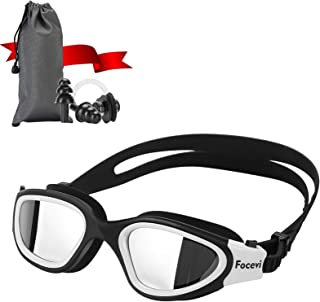 Swimming Goggles for Men/Women, Polarized Anti-Fog UV Protection Mirrored Adult Swim Goggles, Swimming Glasses