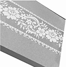 Self Sticking White Lace Transparent Removable Wallpaper Border Shop Display Window Sticker Bathroom Mirror Decor (Rustic Floral)